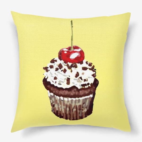 Подушка «кекс шоколадный»