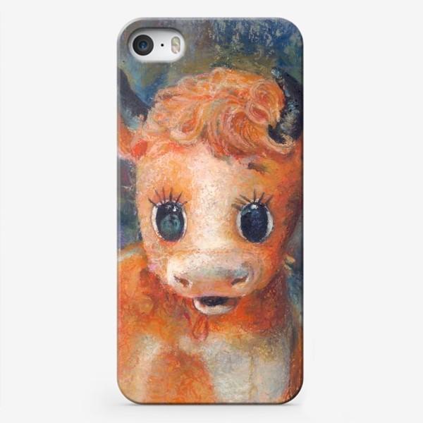 Чехол iPhone «Бычок,бык, год быка, 2021»