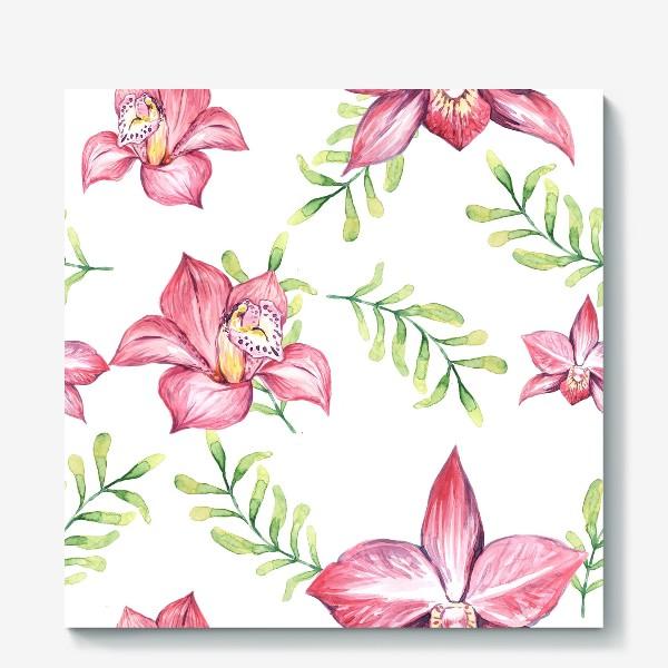 Холст «Орхидея Цветок Паттерн»