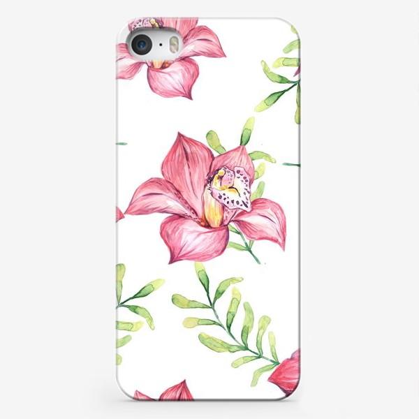 Чехол iPhone «Орхидея Цветок Паттерн»