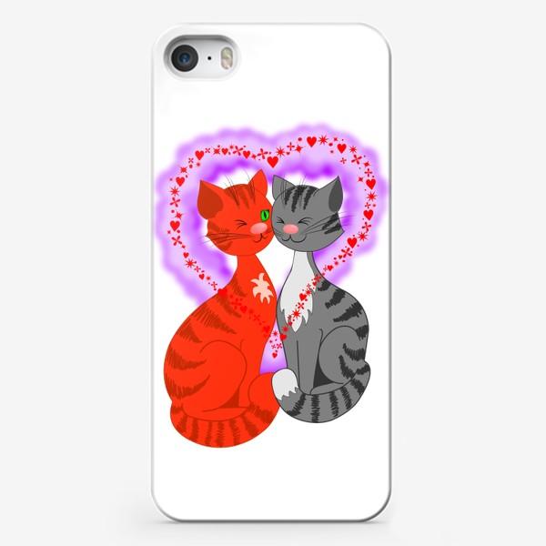 Чехол iPhone «Влюбленные кошки»