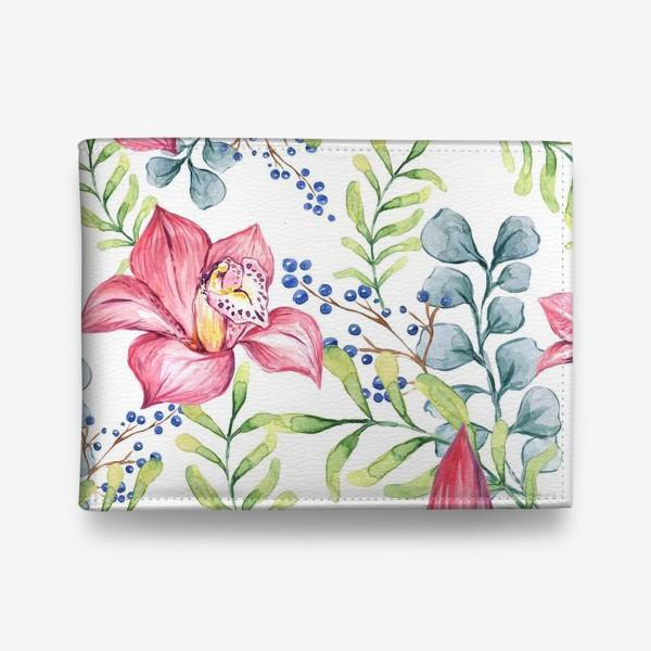 Кошелек «Орхидея паттерн цветы»