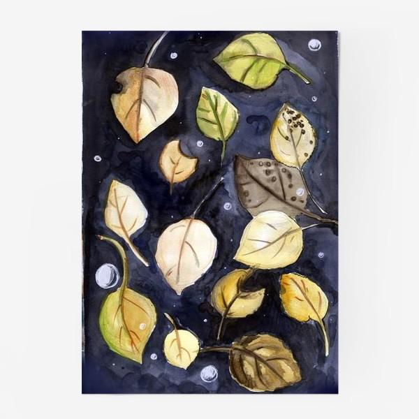 Постер «Листья на воде»