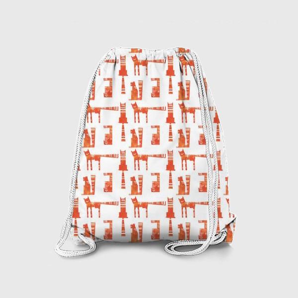 Рюкзак «Тигры на белом (паттерн)»