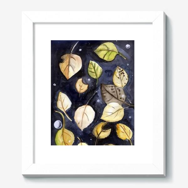 Картина «Листья на воде»