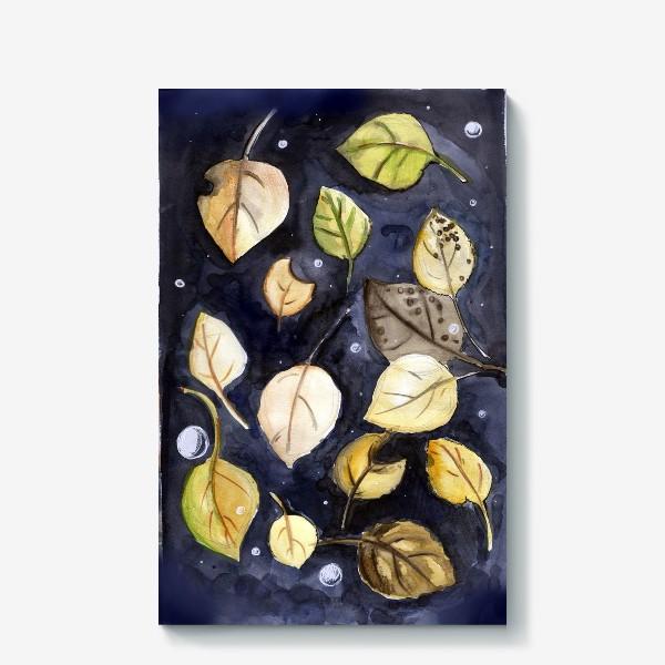 Холст «Листья на воде»