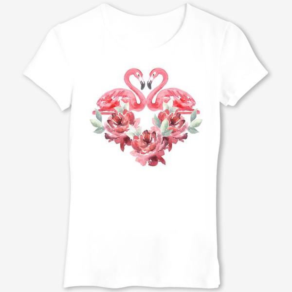 Футболка «Сердце из цветов Фламиного пионы»