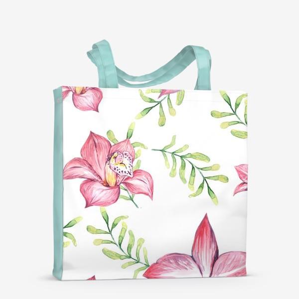 Сумка-шоппер «Орхидея Цветок Паттерн»
