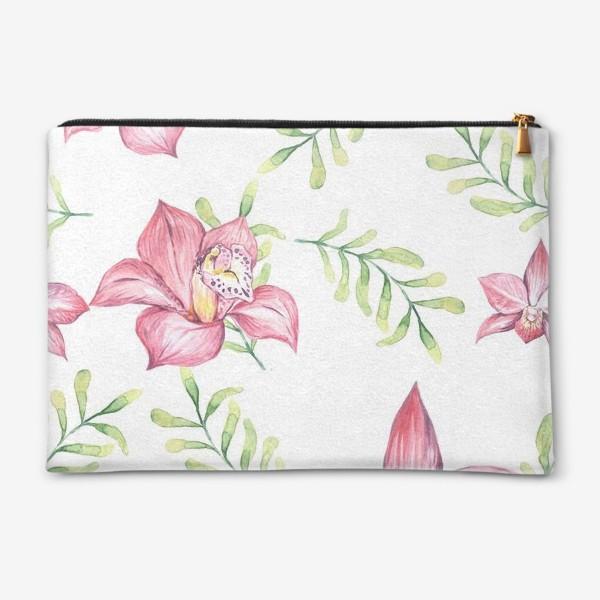 Косметичка «Орхидея Цветок Паттерн»