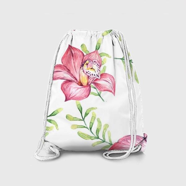 Рюкзак «Орхидея Цветок Паттерн»