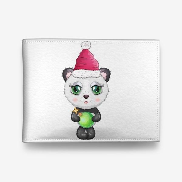 Кошелек «Панда с елочным шариком, новый год»