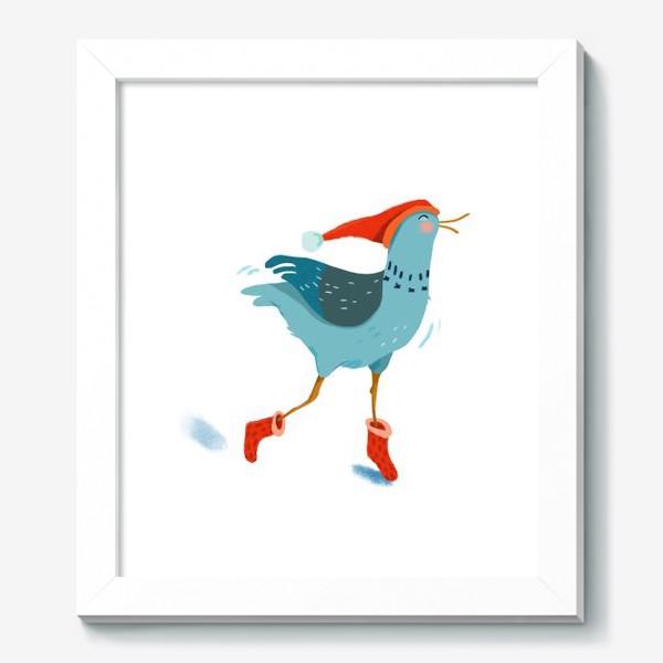 Картина «Птица в красной шапке и в носках»