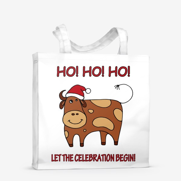Сумка-шоппер «Год быка. Новогодний подарок»