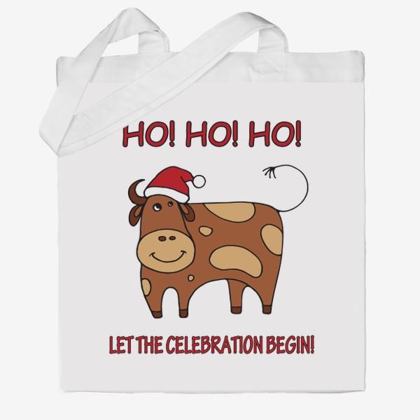 Сумка хб «Год быка. Новогодний подарок»