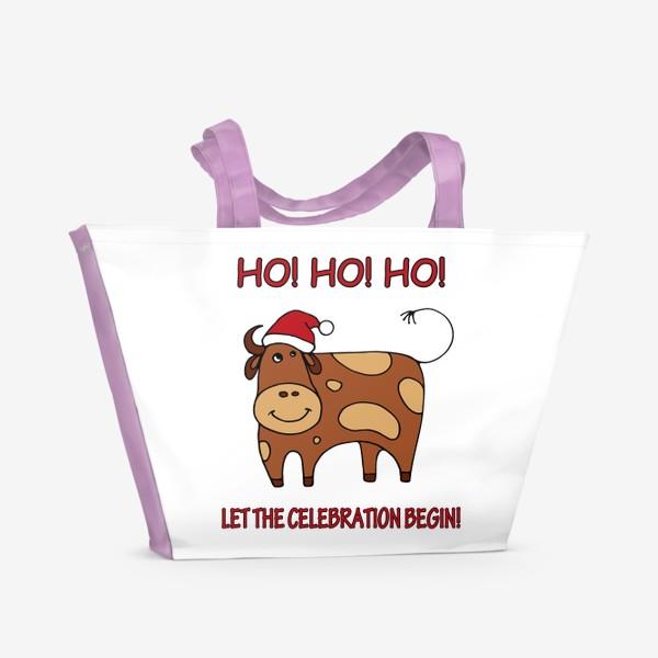 Пляжная сумка «Год быка. Новогодний подарок»