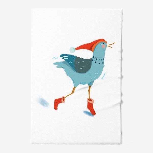 Полотенце «Птица в красной шапке и в носках»