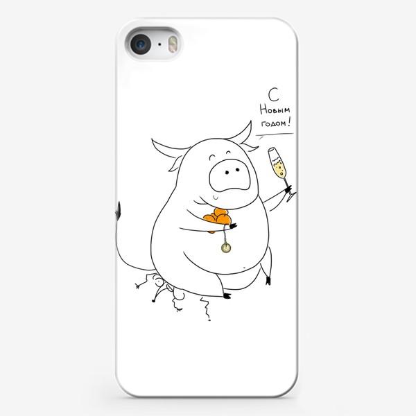Чехол iPhone «Год быка 2021! С новым годом»