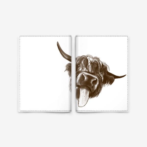 Обложка для паспорта «Смешной бычок »