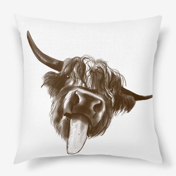 Подушка «Смешной бычок »