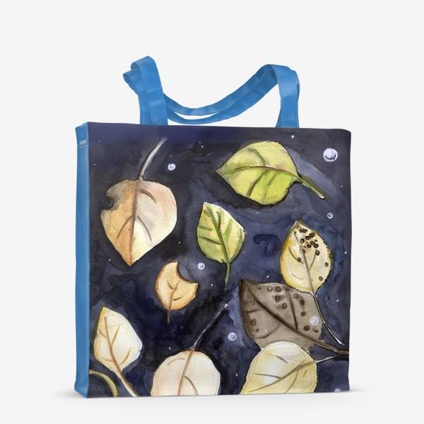 Сумка-шоппер «Листья на воде»