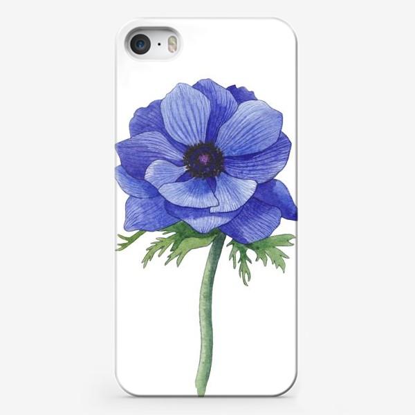 Чехол iPhone «Синий Анемон»