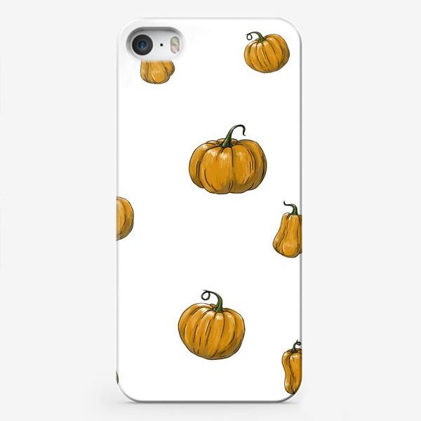 Чехол iPhone «Паттерн Тыквы»