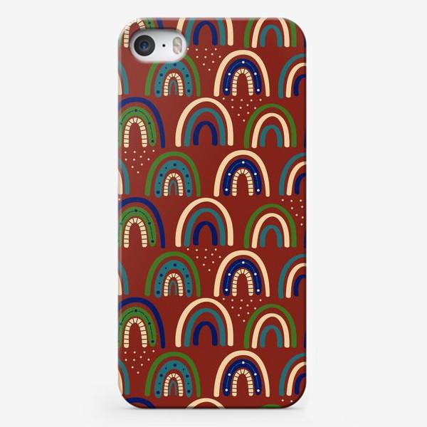 Чехол iPhone «Богемная радуга. Ретро, винтаж.. Стиль хиппи »