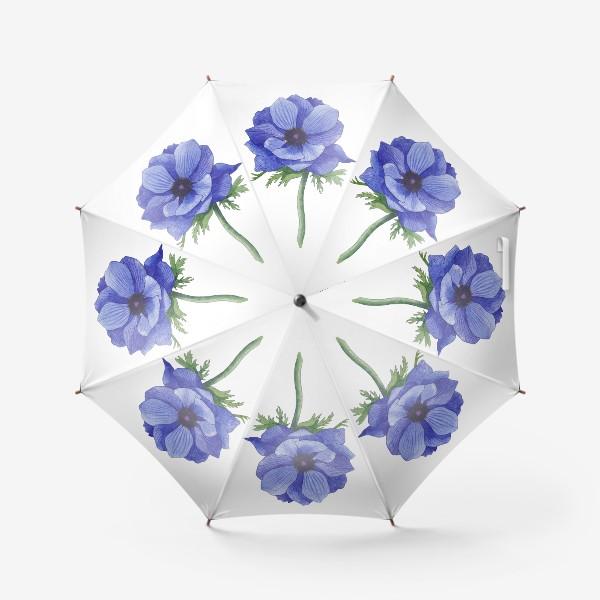 Зонт «Синий Анемон»