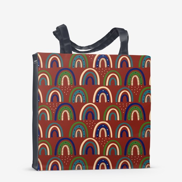 Сумка-шоппер «Богемная радуга. Ретро, винтаж.. Стиль хиппи »