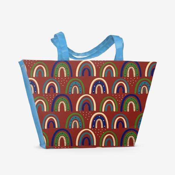 Пляжная сумка «Богемная радуга. Ретро, винтаж.. Стиль хиппи »