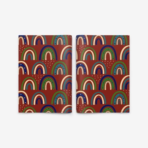 Обложка для паспорта «Богемная радуга. Ретро, винтаж.. Стиль хиппи »