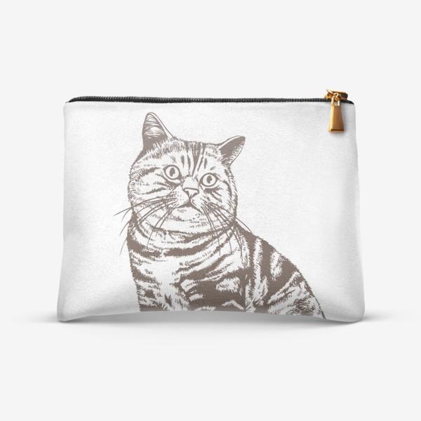 Косметичка «Рисунок кот»