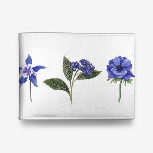 Кошелек «Синие цветы. Ботаника»