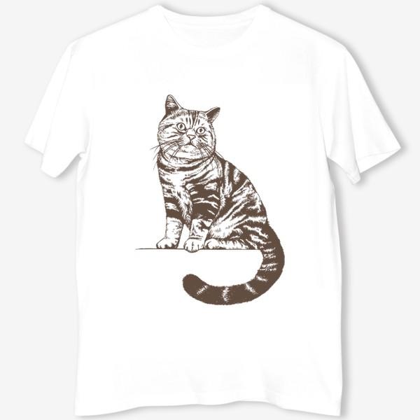 Футболка «Рисунок кот»