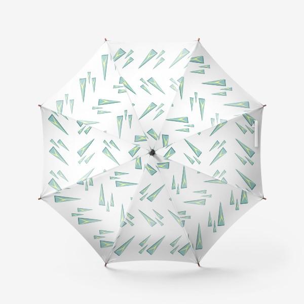 Зонт «Треугольные сосульки или кусочки льда. Геометрический паттерн»
