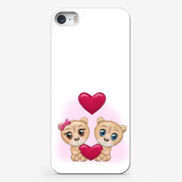 Чехол iPhone «Влюбленные мишки с сердечком, 14 февраля»