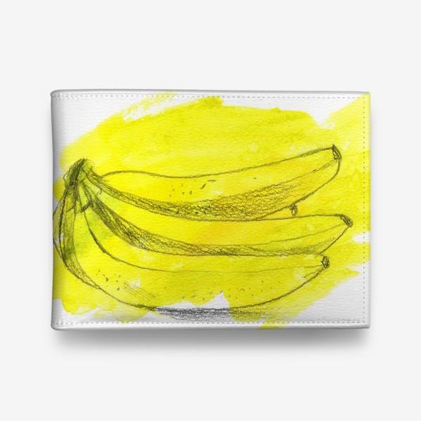 Кошелек «бананы, графика на желтом фоне»