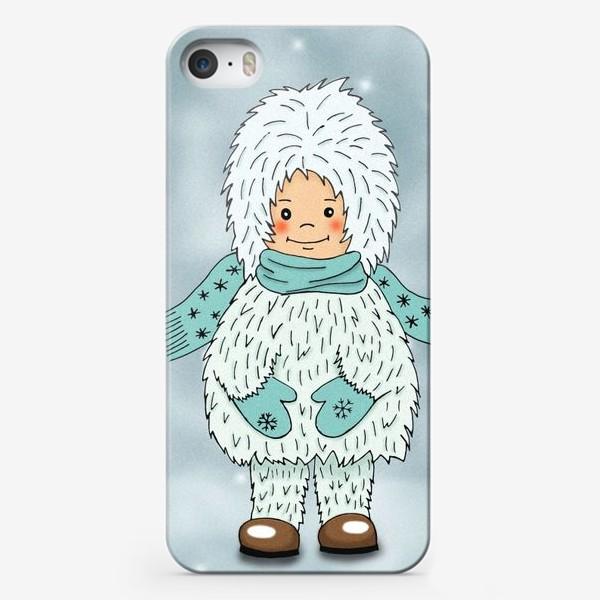 Чехол iPhone «Маленький дух зимы»