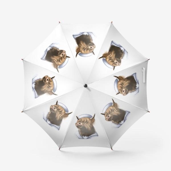 Зонт «#Год Быка 2021 . Бычок-морячок»
