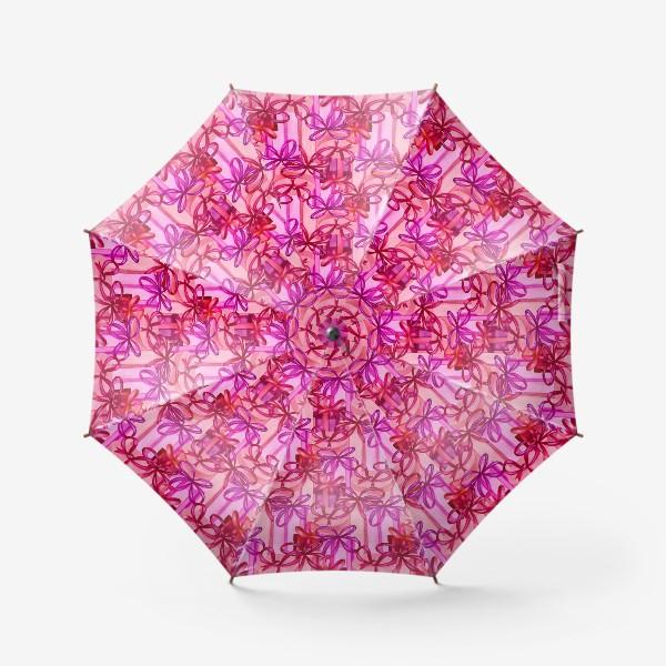 Зонт «Паттерн розовые коробки с подарками»