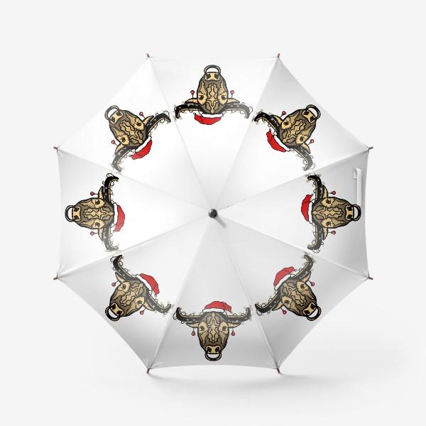 Зонт «Бык с гирляндами »