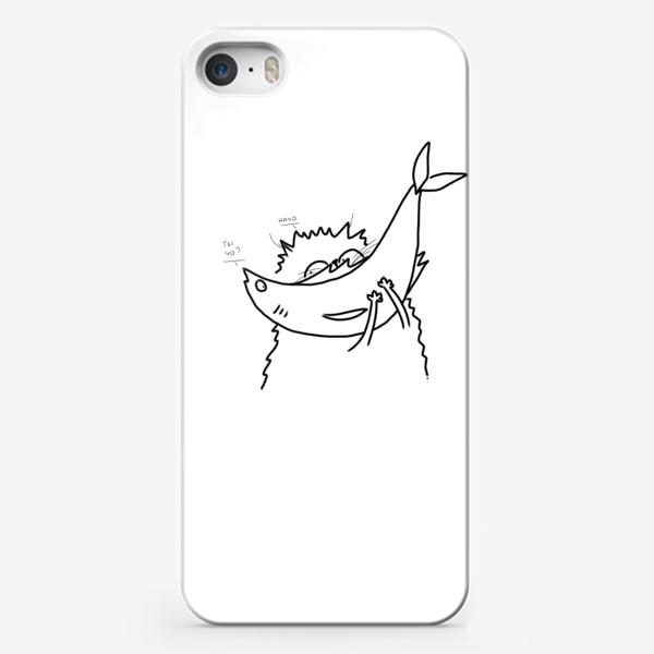 Чехол iPhone «Кот с рыбой»