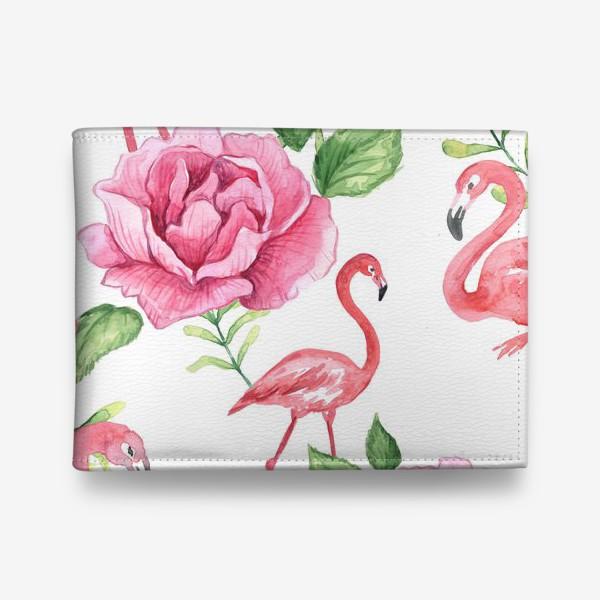 Кошелек «Паттерн Флмаинго Пион Цветы и птицы»