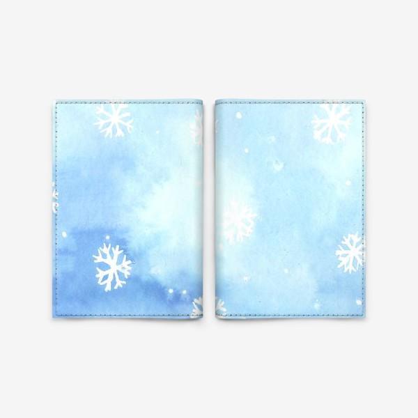 Обложка для паспорта «снежный паттерн»
