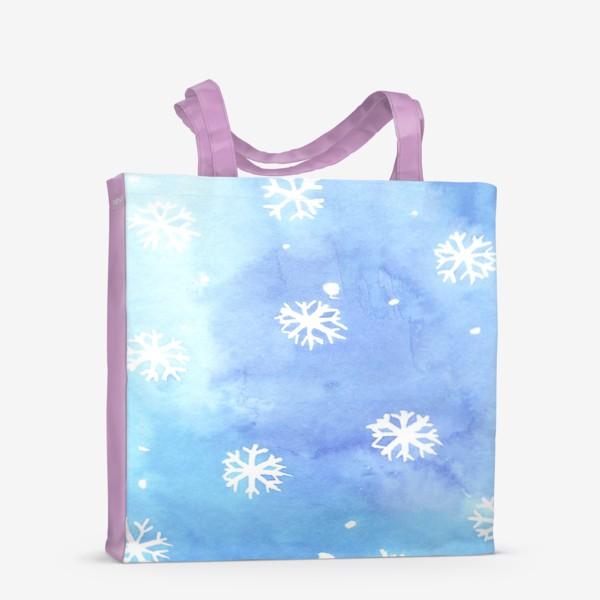 Сумка-шоппер «снежный паттерн»