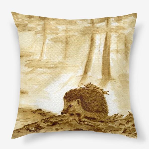 Подушка «Утро в кофейном лесу.»