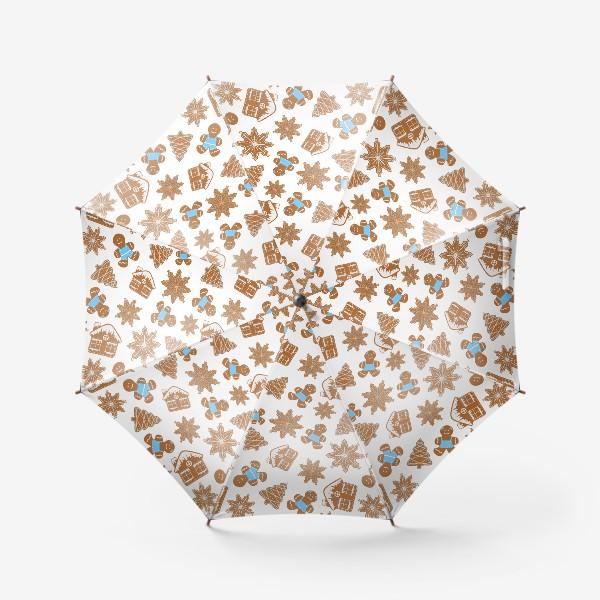 Зонт «Имбирные печеньки.Паттерн »