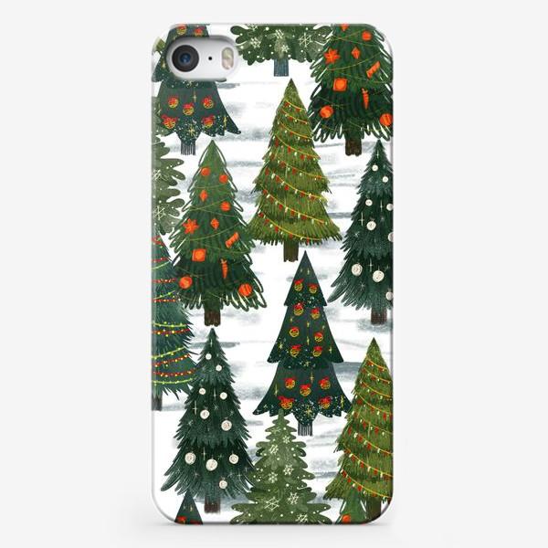 Чехол iPhone «новогодний лес»