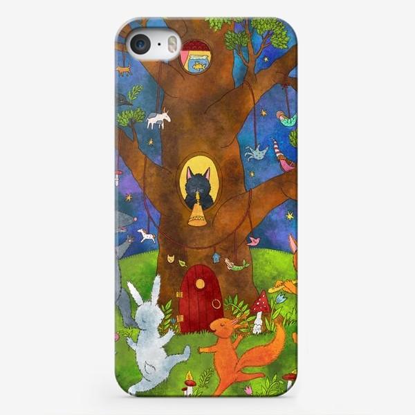 Чехол iPhone «Веселые лесные животные»
