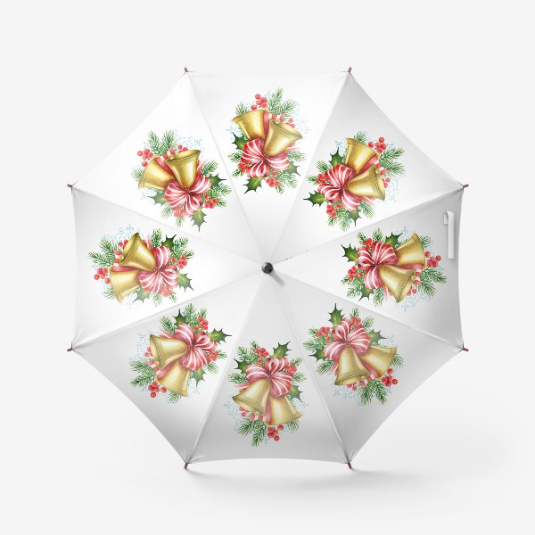 Зонт «Рождественские колокольчики»